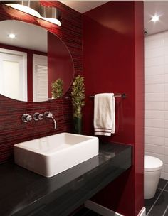 Red bathroom decor ideas red bathroom decor ideas red and black bathroom red bathroom decor ideas red and black bathroom red bathroom decor ideas red and Black Bathroom Decor, Bathroom Red, Bathroom Paint Colors, Bathroom Photos, Modern Bathroom, Red Bathrooms, Bathroom Ideas, Basement Bathroom, Glitter Bathroom