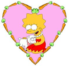 Lisa & Lamb Where She Turns Into A Vegetrain See Season 7 ep 15 Called Lisa The Vegetarian