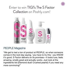 Smooth, healthy hair is possible even in the muggiest of Summers! These five TIGI S Factor products will get you professionally fabulous hair at home. Enter to win the collection on Poshly.com!