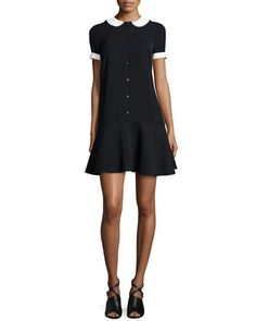 Short-Sleeve Flounce Dress by M Missoni at Neiman Marcus.