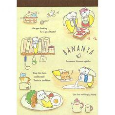 Bananya Anime Cat Gohan Memo Pad (◕ᴥ◕) Kawaii Panda - Making Life Cuter Kittens Cutest, Cute Cats, Panda Sketch, Anime Cat, Printed Pages, Neko, Alice In Wonderland, Stationery, Doodles