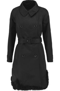 Simone Rocha Feather-trimmed duchesse-satin coat | THE OUTNET