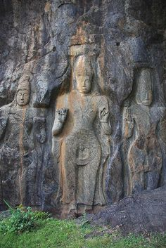 #87 Buduruwagala, Sri Lanka - This is an ancient temple with around 16m high stone-carved Buddha statutes dating back to the 9th-10th century.