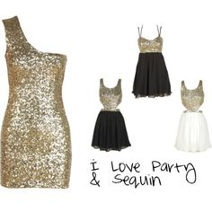 """i love pary and sequin dressses"" by ertan on Polyvore"