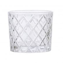 CLEAR ETCHED DRINKING GLASS FOR WEDDING OR PARTY DECOR   Candleholders Archives - Hire and Style | Hire and Style