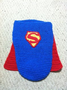 Superman baby cocoon.