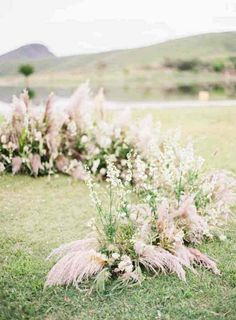 Shoot Ideas   Big Floral Inspiration   Pampas Grass   Toast Event Design