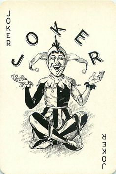 Laughing Joker Single Swap VTG Playing Card Maori Girl in Native Dress on Back Unique Playing Cards, Playing Cards Art, Vintage Playing Cards, Playing Card Tattoos, Joker Playing Card, Joker Art, Batman Art, Joker Card Tattoo, Jester Tattoo