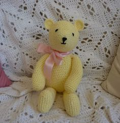 PDF version  Very easy to make - but she looks so cute. Who could resist her?        To make Buttercup Bear I used:  Yellow double knitting ...
