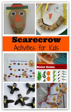Scarecrow Activities- These would be great for a Thanksgiving, Halloween, farm or fall harvest units. They would be great on their own too.