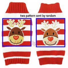 Hand Knitted Christmas Sweater For Pets Christmas Knitting, Christmas Sweaters, Knit Dog Sweater, Crochet Hats, Dog Crochet, Cat Supplies, Little Dogs, Reindeer, Hand Knitting