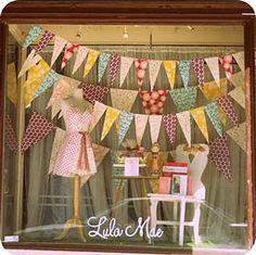Old Pasadena : Lula Mae - bunting window decorations