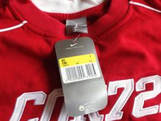 Vintage 90s Nike Cortez Sweatshirt Red NEW WITH Tags by VapeoVintage on Etsy