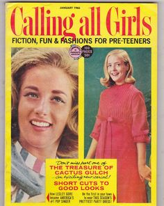 Calling All Girls magazine | January 1966 cover with the late nineteen-year-old Lesley Gore