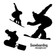 Birthday Cake Stencils Of Skiers