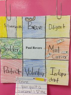 paul revere poster activity - Google Search