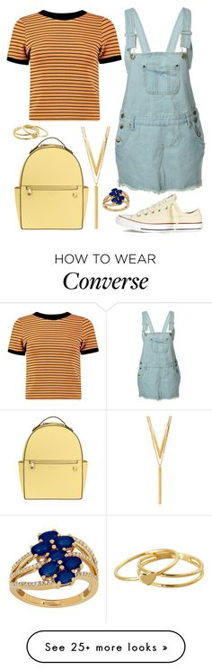 """""""I'm Trying"""" by staysaneinsideinsanity on Polyvore featuring Boohoo, Converse, Henri Bendel, BERRICLE, Lord & Taylor and Gorjana"""