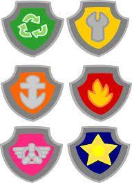 Resultado de imagem para paw patrol badge template
