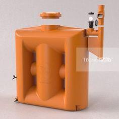 Cisterna Vertical Modular 1000 litros com filtro - Loja eCycle - Sua pegada mais leve