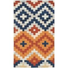 Hand-hooked Chelsea Southwest Multicolor Wool Rug (1'8 x 2'6)// new kitchen rug? $15.99