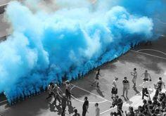 Light blue vs black and white, Racing Club de Avellaneda. Explosions, Academia, Light Blue, Soccer, Racing, Black And White, Football Images, Life, Football