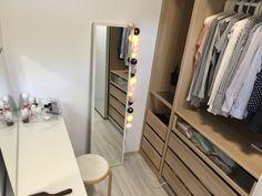 Small IKEA walk in closet