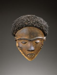 Female Face Mask, early 1900s. Central Africa, Democratic Republic of the Congo, Pende , early 20th century.