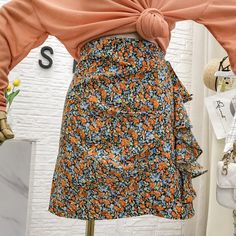 Mini Skirt Womens Floral Skirt Summer High Waist Slim Package Hip Ladies Skirts Faldas Mujer Moda 2020 Cheap Skirts, Mini Skirts, Slim Waist, High Waist, Ladies Skirts, Clothes For Women, Lady, Floral, Summer