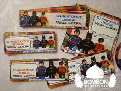 #Batman #Robin #Superman #Personalized #Label #Sticker ¡Everybody ready! https://www.facebook.com/invitaciones.bombon