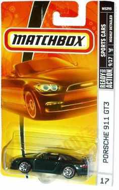 Mattel Matchbox 2007 MBX Sports Cars 1:64 Scale Die Cast Metal Car # 17 - Black Exotic Luxury Sport Coupe Porsche 911 GT3 by MBX. $11.77. Realistic Details. 1:64 Scale. Diecast Metal and Plastic Parts. For age 3 and up. Mattel Matchbox 2007 MBX Sports Cars 1:64 Scale Die Cast Metal Car # 17 - Black Exotic Luxury Sport Coupe Porsche 911 GT3