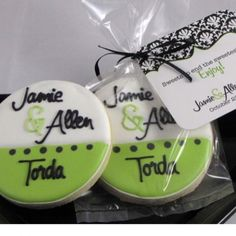 Grad party cookies School colours, name on top and year on bottom