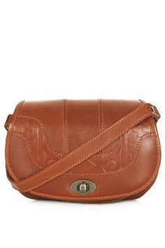 Embossed Saddle Bag