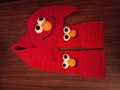 crochet elmo hat - Google Search