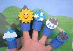 Mevsimleri anlatırken kullanılabilecek parmak kuklalar