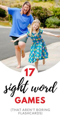Working on learning sight words with your kindergartener or first grader? These are 17 sight word practice games that are WAY more fun than boring flashcards! Learning Sight Words, Sight Word Practice, Sight Word Games, Literacy Activities, Educational Activities, Activities For Kids, First Grade Teachers, Parents As Teachers, Toddler Play Area