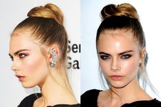 Cara Delevingne's top beauty moments: Her cool, edgy, and not the least bit uptight ballerina bun at The Serpentine Gallery Summer Party, June 2012