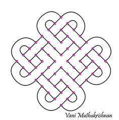 My Kolam: Interlinked hearts Rangoli Designs Simple Diwali, Simple Rangoli Border Designs, Rangoli Designs Latest, Rangoli Designs Flower, Free Hand Rangoli Design, Rangoli Patterns, Small Rangoli Design, Rangoli Designs Diwali, Rangoli Designs With Dots