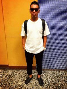 MORGAN DE TOI 有楽町 | yokoさんのTシャツ/カットソー「MORGAN HOMME ドロップショルダー5thT」を使ったコーディネート