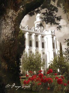 LDS Temple, St. George, Utah.