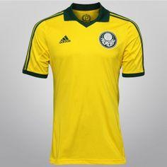 Camisa verde e amarela do Palmeiras  - http://www.colecaodecamisas.com/camisa-verde-e-amarela-do-palmeiras/ #colecaodecamisas #Adidas