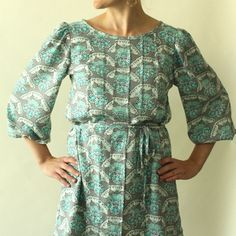 Josephine tunic with front pleats from Made By Rae. Belt is optional.