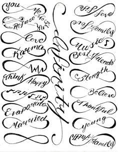 Unendlichkeitszeichen Tattoos