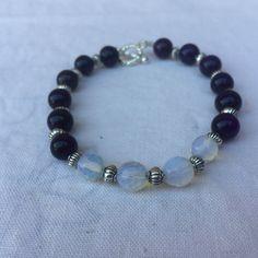 Natural dark purple amethyst gemstone with by MoonBeamsJewels