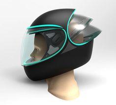 """Futuristic Motorcycle Helmets """"C-Throygh"""" Helmet"""