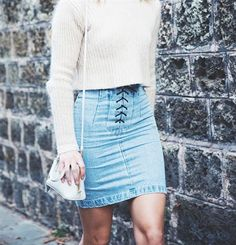 Jeans Skirts for Women or Ladies | Spring Summer Ideas