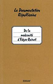 De la modernité d'Edgar Quinet - Collectif - DG Diff