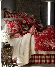 by Horchow French Country Bed Linens Houndstooth Quilt Sets Queen French Country Comforter. Love this for the cabin. Country Decor, Bedroom Decor, French Country House, Home Furnishings, French Country Bedding, Country Comforter, Country Bedroom, Home Decor, Country Bedding