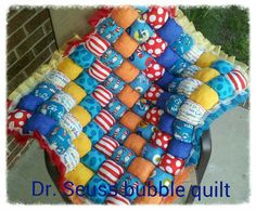 This tummy time baby bubble quilt is my most popular seller and is made to order. You can choose the rainbow style that is pictured or convo me with an idea to fit your decor or personality. These bubble quilts are perfect for tummy time, play time or nap time. These also make great