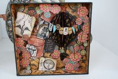 A look at the inside of Miranda's altered Steampunk Spells Matchbook Box! Incredible! #graphic45 #alteredart