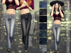 The Sims Resource: Engineered Jeans by Simsimay • Sims 4 Downloads